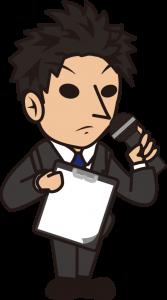 無表情に司会を務めるもバインダーを逆に持っている辺りに緊張を感じる「とびぃ」