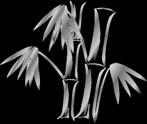 竹のシルエット「銀」