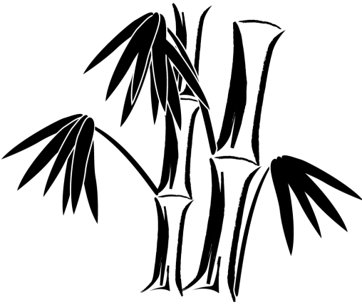 竹のシルエット「黒」