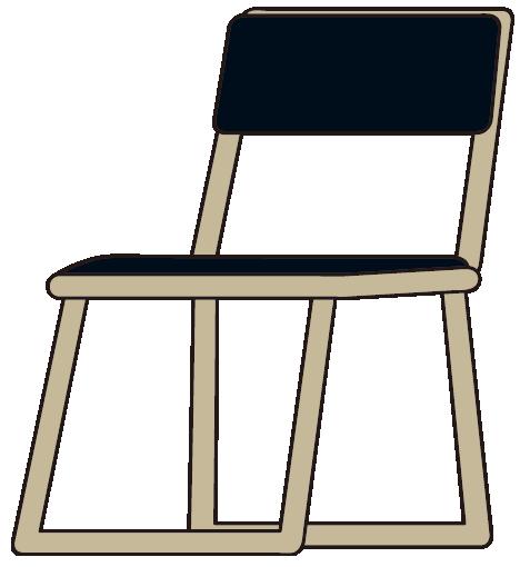 明らかに折りたたみ出来なさそうなパイプ椅子
