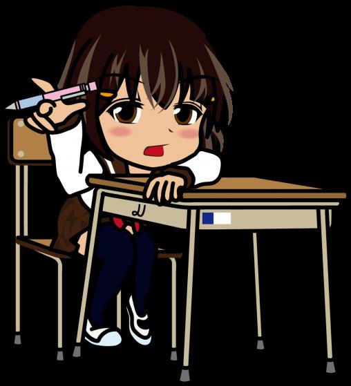 ペン回しをしながら授業を受ける女子高生「あーたむ」
