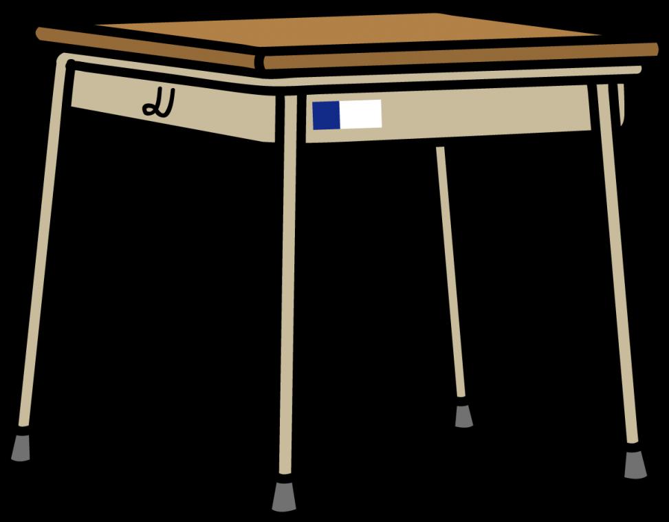 学校の机のイラスト素材 Veglキャラクターイラスト素材
