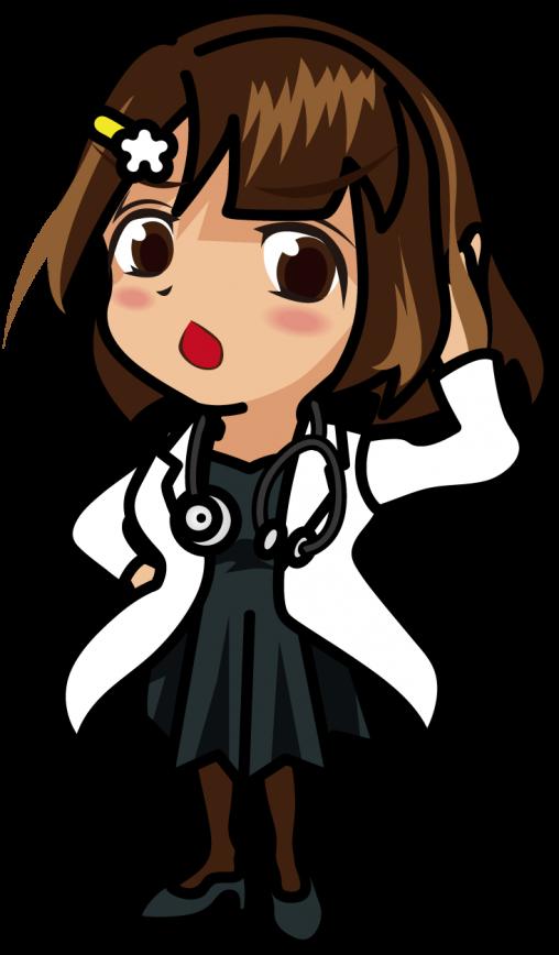 髪をかき上げながら見下す女医「むこりん」