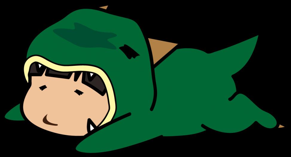 寝っころがったやる気のない怪獣「座敷あらし」