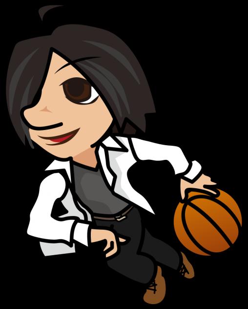昼休みにバスケする社会人「はたさん」