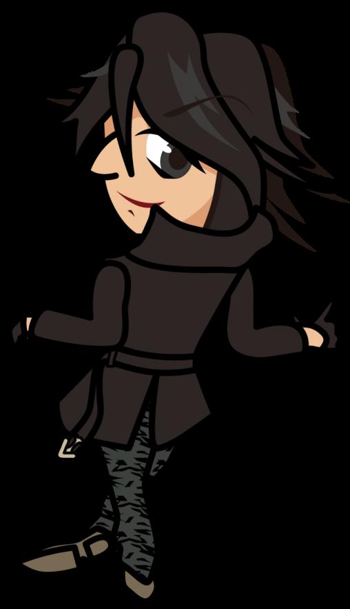 黒いコートでこちらを振り向く「准さん」