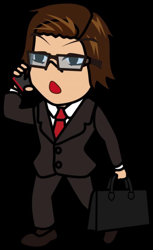歩きながら電話するビジネスマン「うりぼぅ」