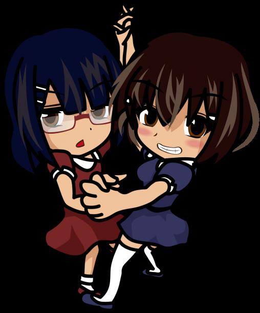 楽しそうにダンスする姉と迷惑そうな妹「あーたむ×みーたむ」