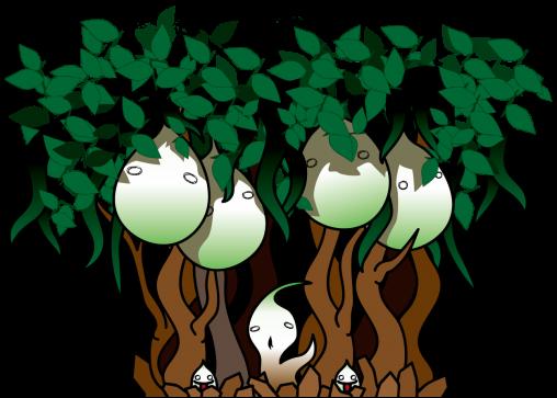 不気味な植物