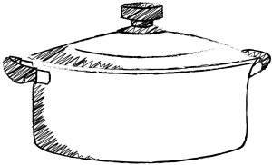 落書き風の鍋