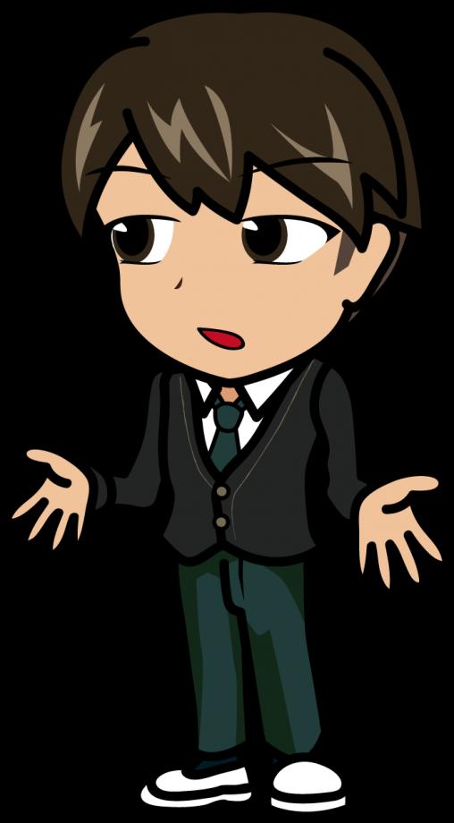 淡々と話をする冴えない男子高校生「モブ次郎」