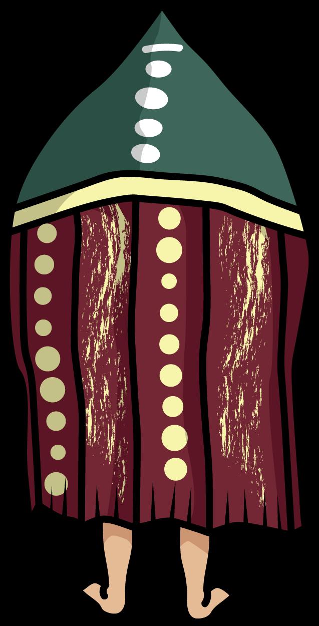 セルクナム族「タヌ」の後ろ姿