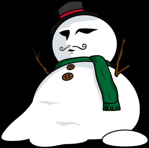 ダンディな雪だるま