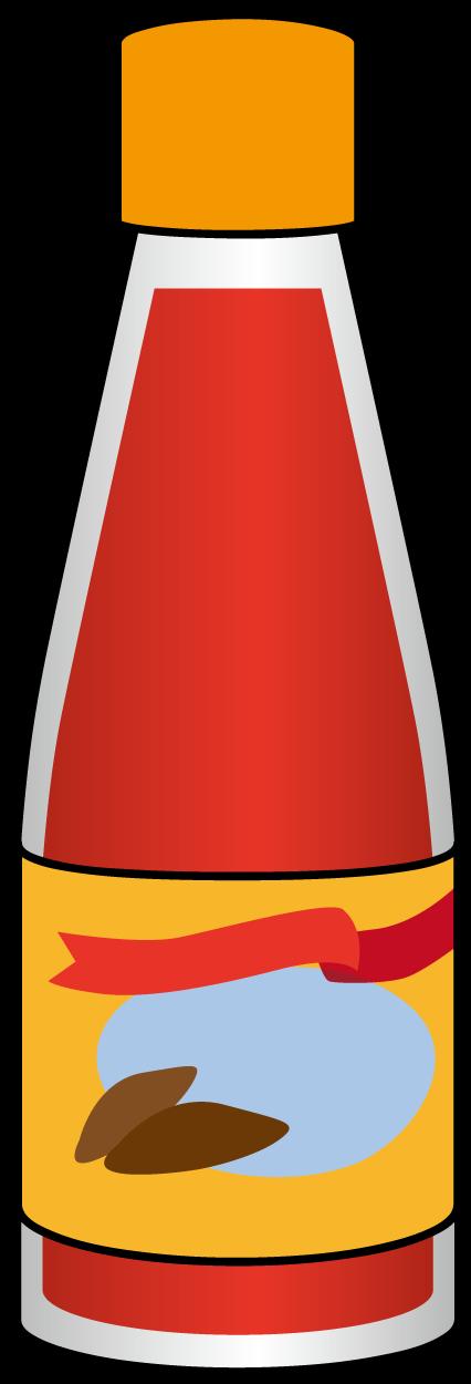 ビンに入った赤いタレ