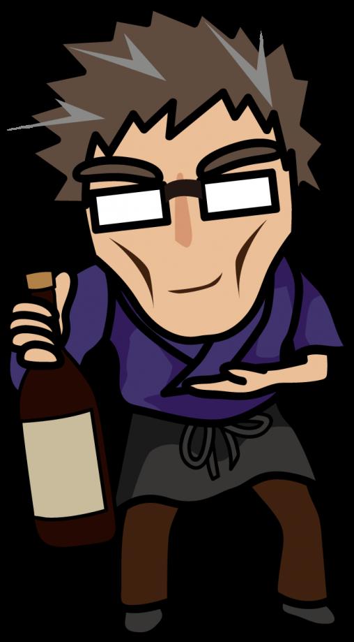 お酒を勧める居酒屋店主「妖精さん」
