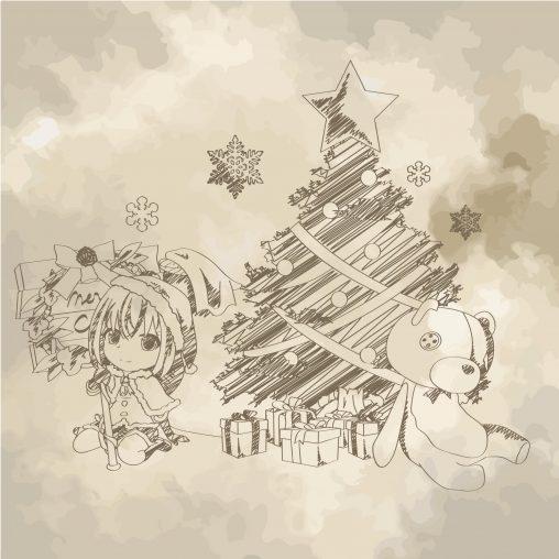 【アイキャッチ】落書き風のクリスマス