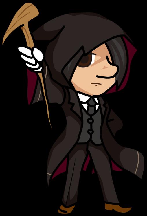 杖を構える魔法使いの男「はたさん」