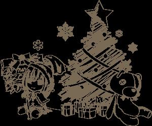 落書き風のクリスマス(背景無し)