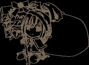落書き風のサンタクロースの女の子【あーたむ】