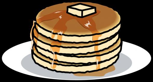 メープルシロップとバターのパンケーキ