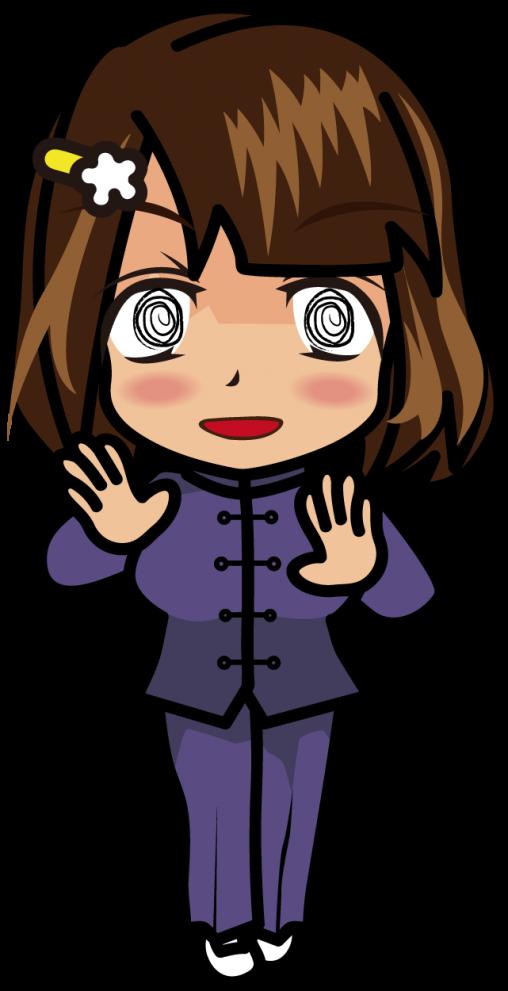 手をかざして気を放つカンフースーツを着た女性気功師「むこりん」