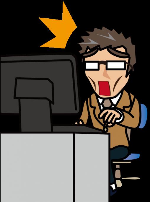 パソコン作業しながら驚愕するおじさん「妖精さん」