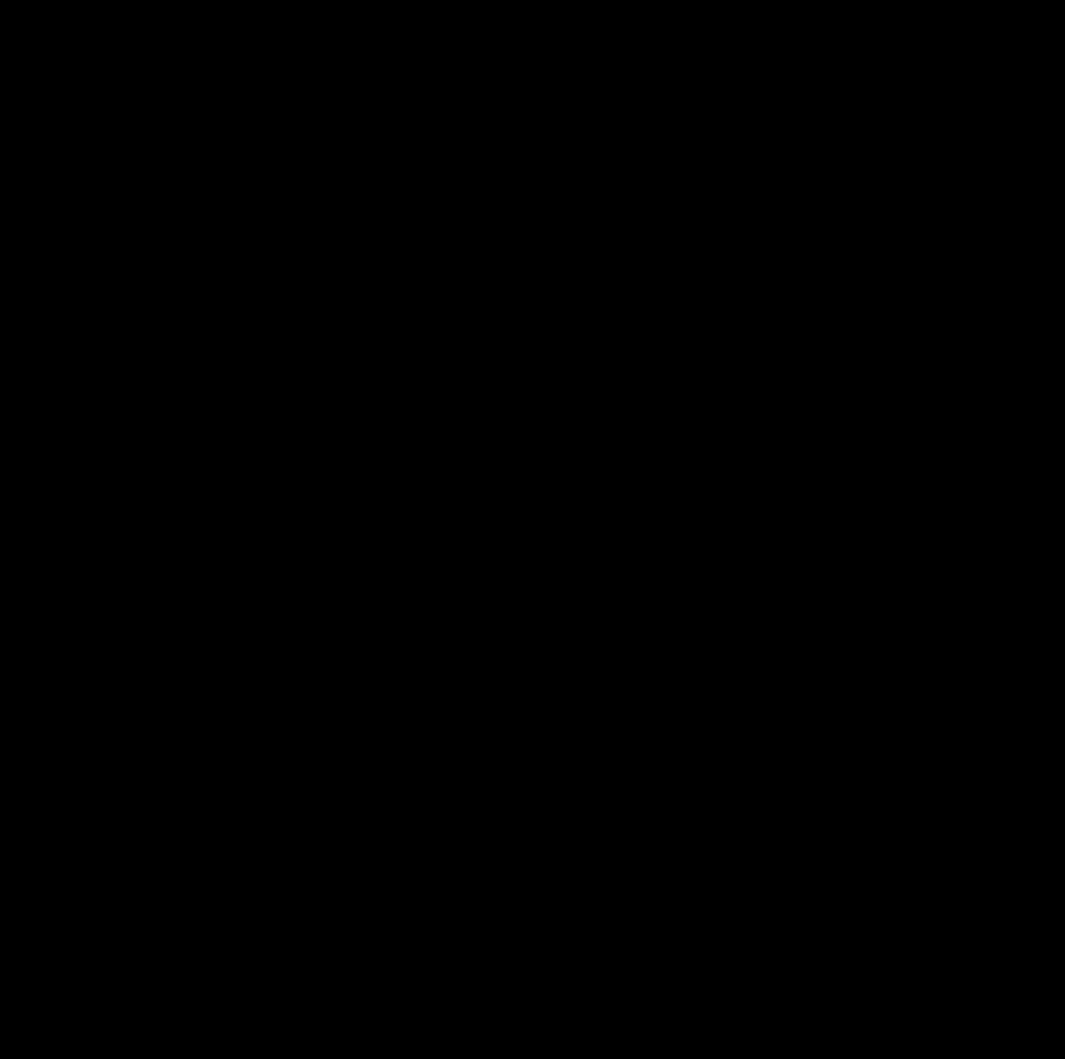 ノルウェージャンフォレストキャットのスタンプ風シルエット