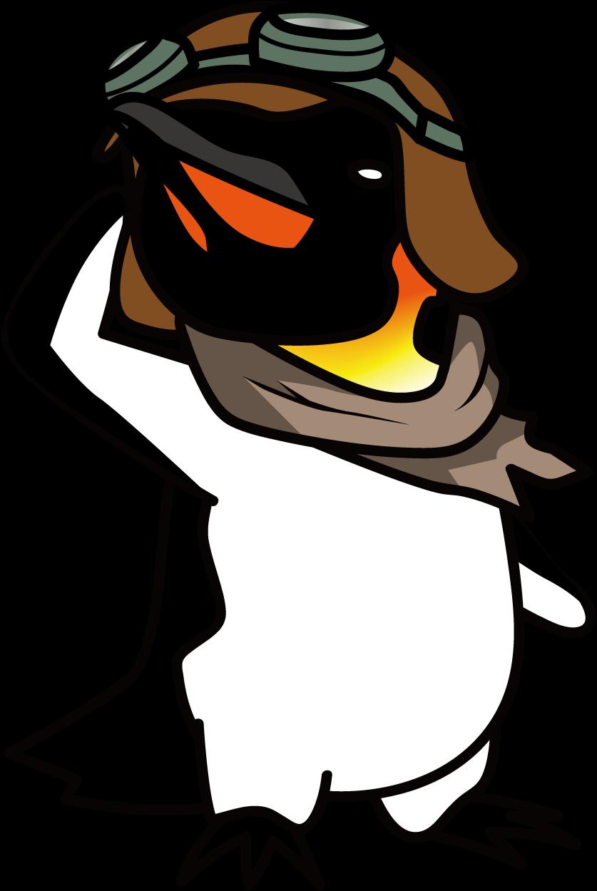 空を飛ぶ事を諦めないエンペラーペンギン