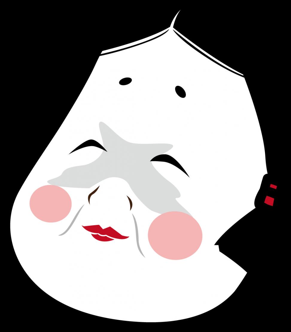 おかめのお面のイラスト素材 Veglキャラクターイラスト素材