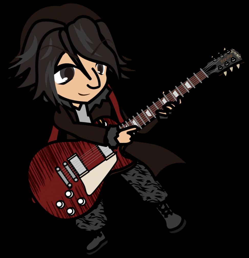 ギブソン?レスポールでタッピングするギタリスト「准さん」