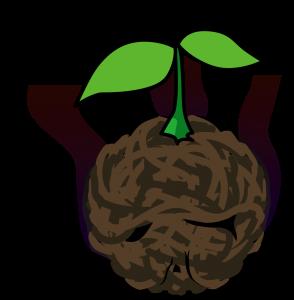 ビジネスイメージにありがちな双葉の苗木
