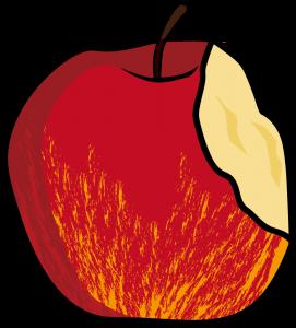 かじられたリンゴ