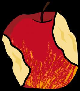 食べかけのリンゴ