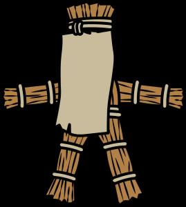 名札がついた藁人形