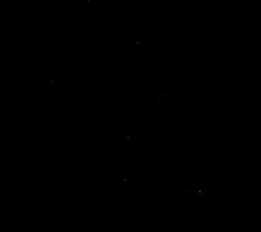 ハロウィンのカボチャおばけのスタンプ風シルエット