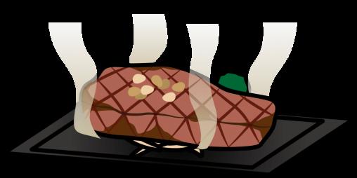 焼いた厚切りステーキ
