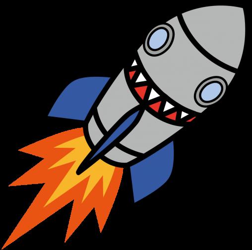 顔っぽい模様のロケット