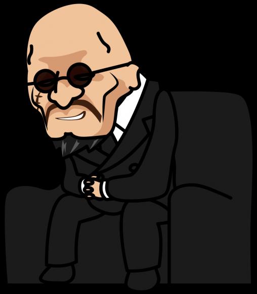 椅子に座ってにやけるヤクザ「社長」
