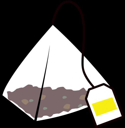 ピラミッド型のティーバッグ