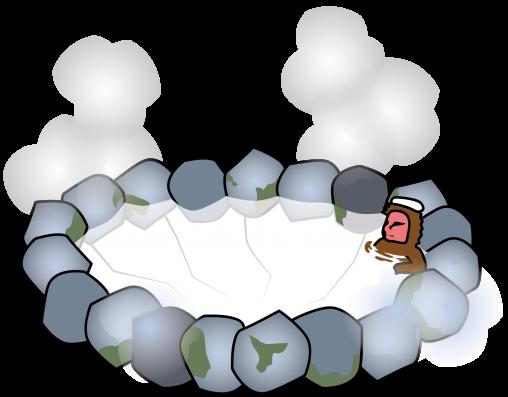 猿がいる温泉