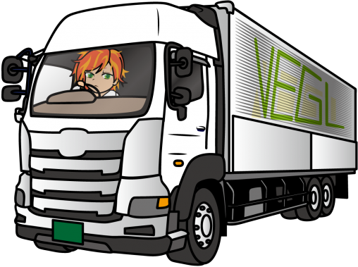 トラックを運転するトラガール「うりねぇ」