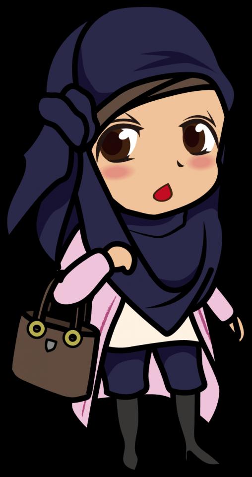 ヒジャブを纏った女性「むこりん」