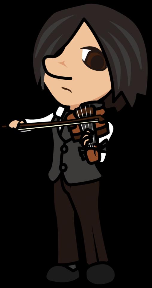 真剣な表情でヴァイオリンを演奏する男性「はたさん」