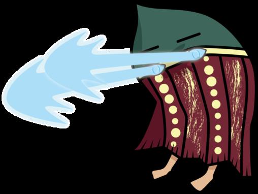 目からビームを出すセルクナム族「タヌ」の想像図
