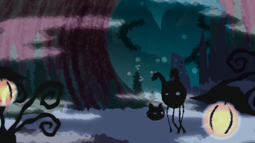 禍々しい魔界の背景