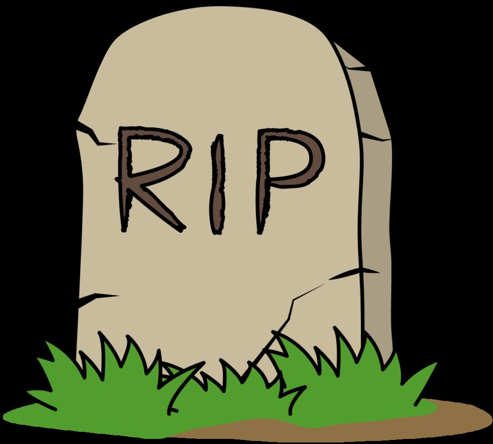 RIPと書かれたお墓