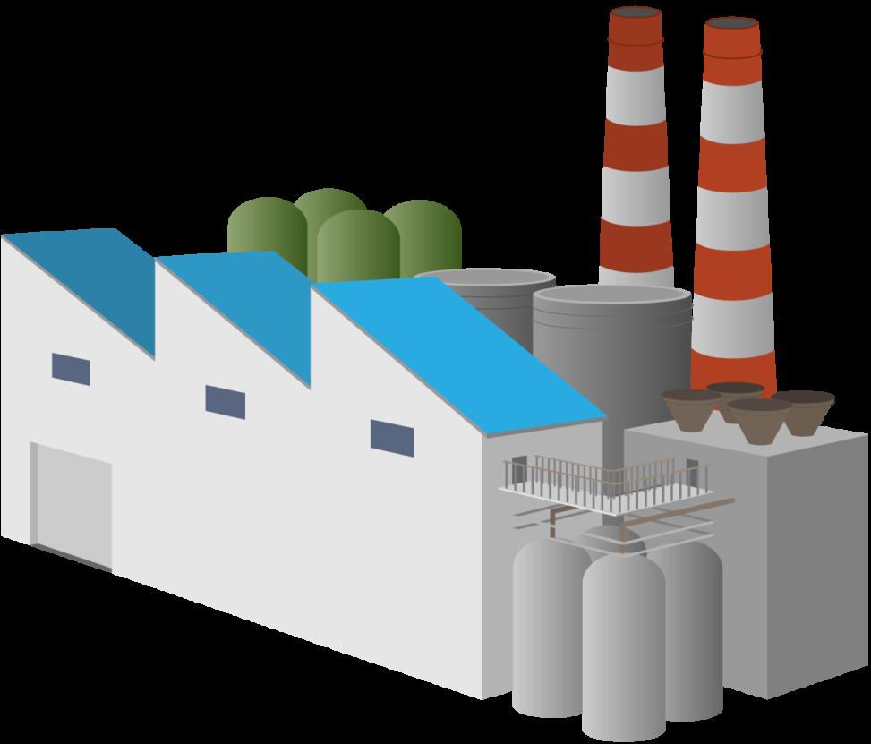 煙たそうな工場