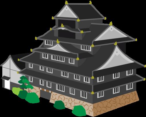 川面に映える漆黒の城