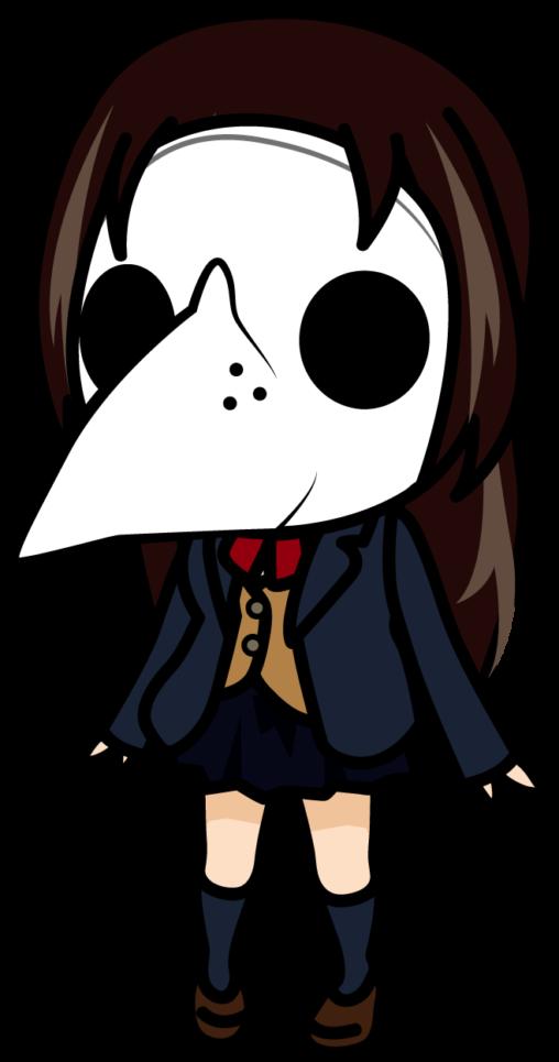 ペストマスクを被った女子高生「あーたむ」