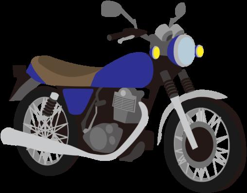 青いバイク